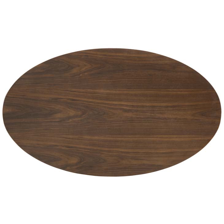"Tulip 48"" Oval Walnut Dining Table - living-essentials"