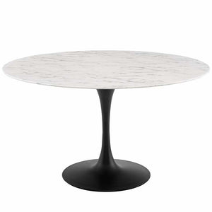 "Tulip 54"" Round Artificial Marble Dining Table - living-essentials"