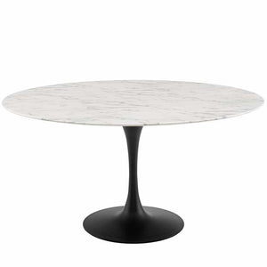 "Tulip 60"" Round Artificial Marble Dining Table"