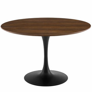 "Tulip 47"" Round Walnut Dining Table"