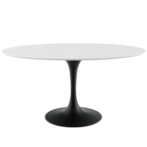 "Tulip 60"" Oval Wood Top Dining Table - living-essentials"