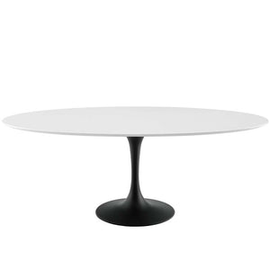 "Tulip 78"" Oval Wood Dining Table"