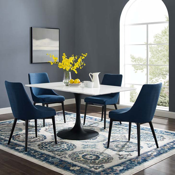 "Tulip 60"" Rectangle Wood Dining Table - living-essentials"
