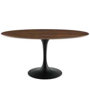 "Tulip 60"" Oval Walnut Dining Table"