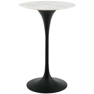 "Tulip 28"" Round Artificial Marble Bar Table"