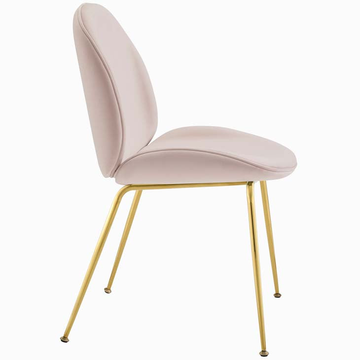 Excavate Gold Stainless Steel Leg Performance Velvet Dining Chair - living-essentials