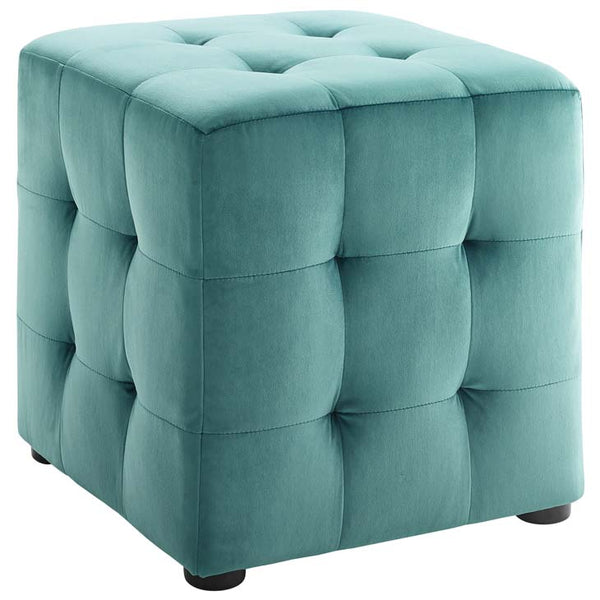 Toggle Cube Velvet Ottoman - living-essentials