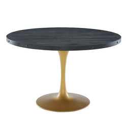 "Drive 48"" Round Wood Top Dining Table - living-essentials"