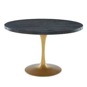 "Drive 48"" Round Wood Top Dining Table"