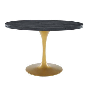 "Drive 47"" Oval Wood Top Dining Table - living-essentials"