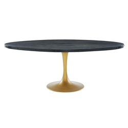 "Drive 78"" Oval Wood Top Dining Table - living-essentials"