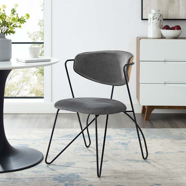 Upend Velvet Dining Chair - living-essentials