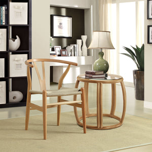 Hans Wegner Wishbone Style Dining Chair Natural Chairs Free Shipping