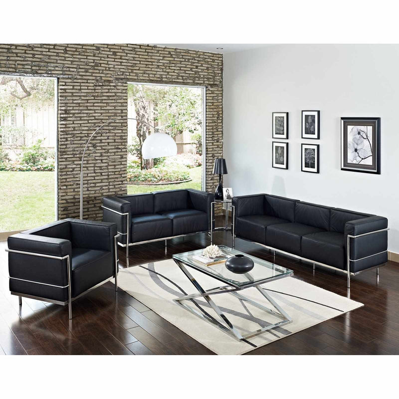 Le Corbusier LC3 Style Armchair - living-essentials