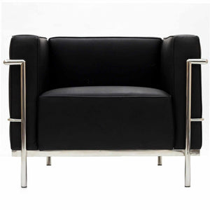 Le Corbusier Lc3 Style Armchair Black Chairs Free Shipping