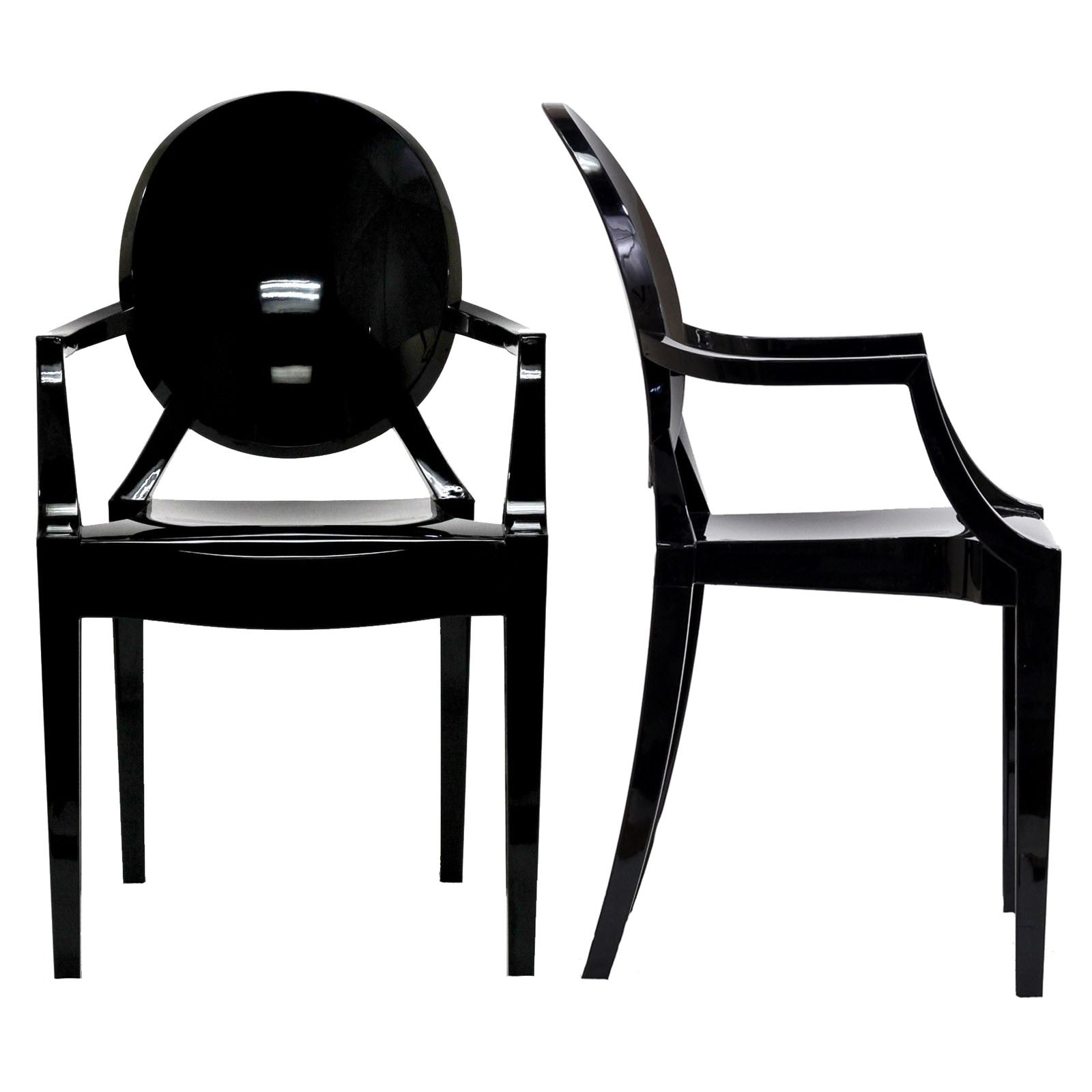 Ghost Dining Armchairs Set Of 2 Emfurn
