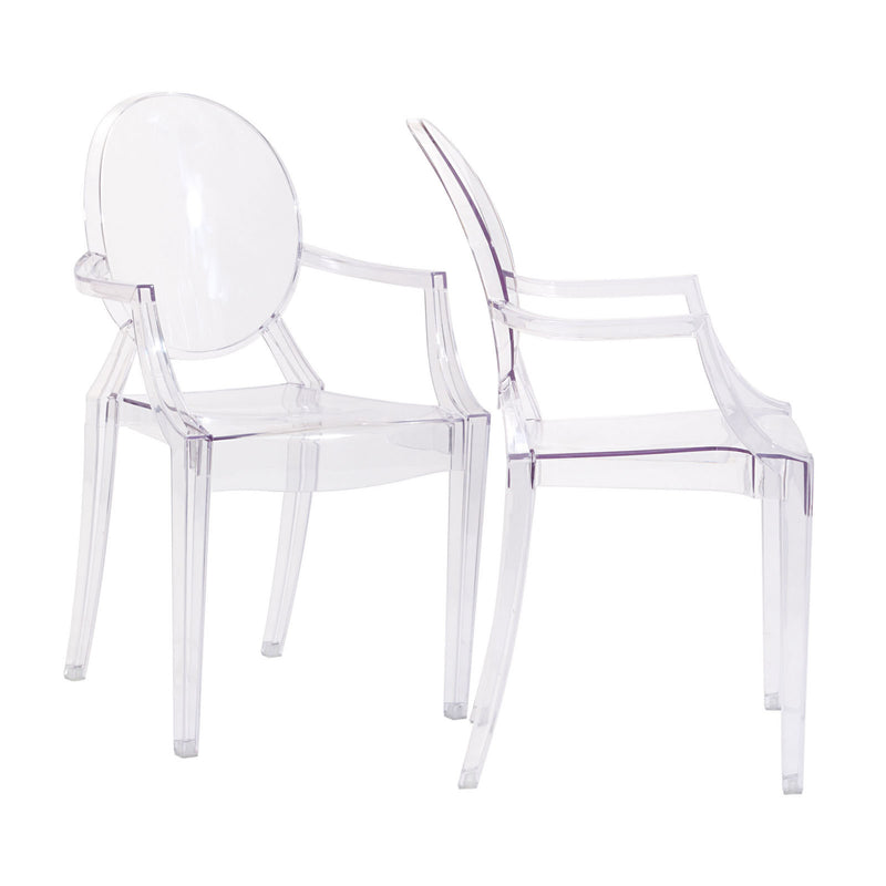 Ghost style Dining Armchairs Set of 2 - living-essentials