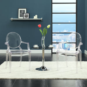 Ghost Style Dining Armchairs Set Of 2 Black Chairs Free Shipping