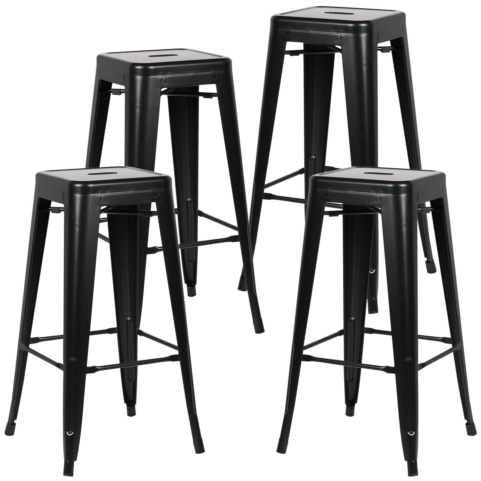 Tolix Style Trattoria 30 Quot Bar Counter Stool Set Of 4