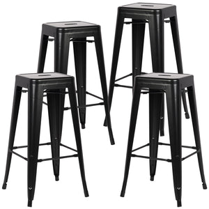 Tolix Style Trattoria 30 Bar/counter Stool (Set Of 4) Black Bar Stools Free Shipping