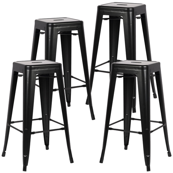 "Tolix Style Trattoria 30"" Bar/Counter Stool (Set of 4) - living-essentials"