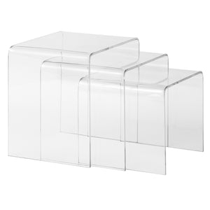 Tim Nesting Tables Clear Side Table Free Shipping