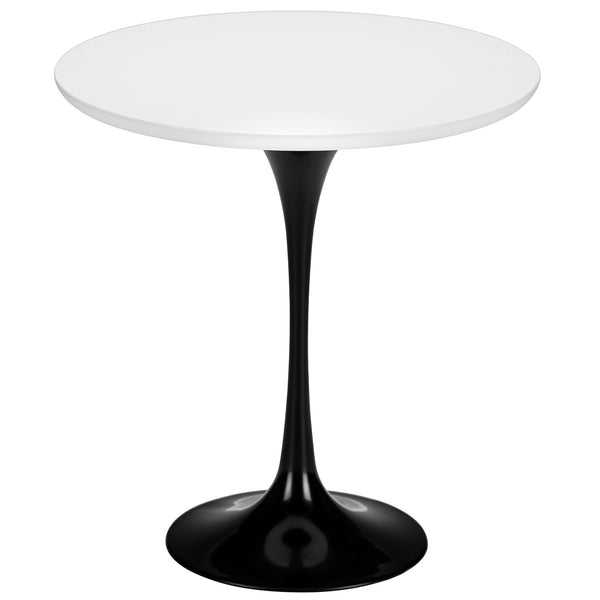 "Tulip Style Black Base 20"" Side Table - living-essentials"