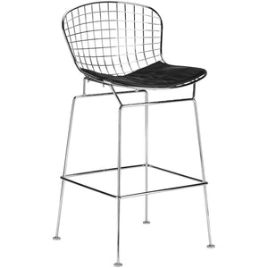 Bertoia Style Counter Stool Black Bar Stools Free Shipping