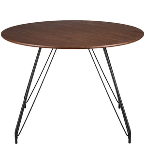 Henry Hairpin Mid Century Dining Table Walnut Free Shipping