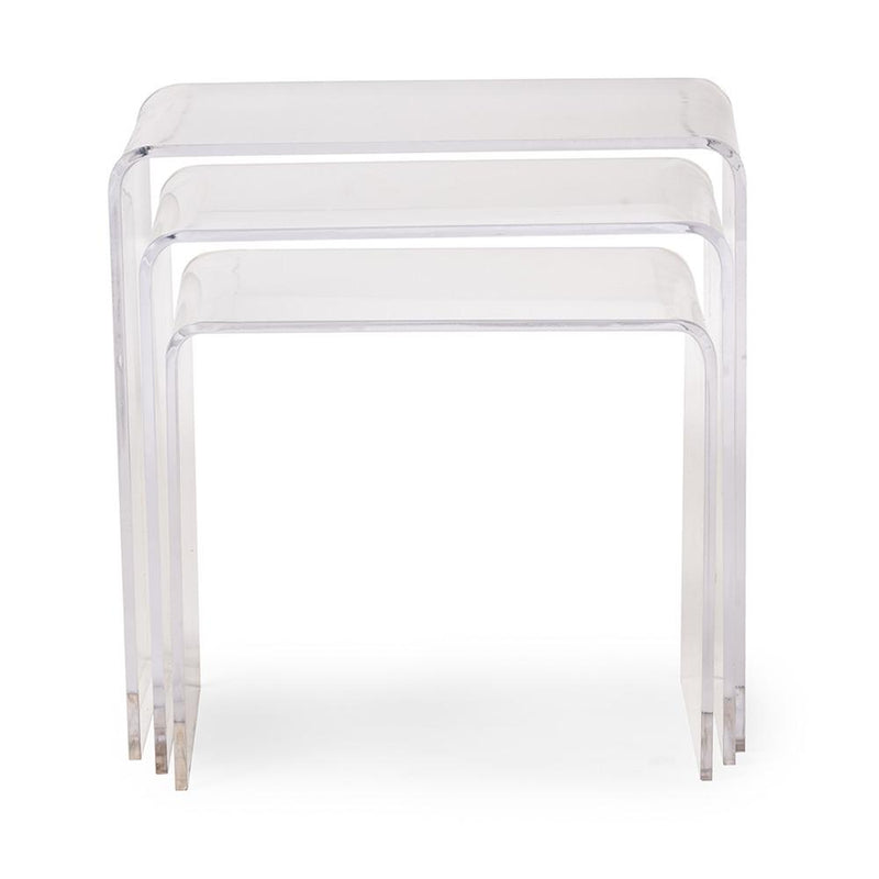 Anika Acrylic 3-Piece Nesting Side Table Set - living-essentials
