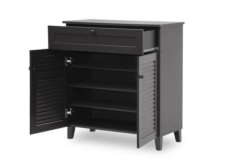 Zackery Espresso Shoe-Storage Cabinet - living-essentials