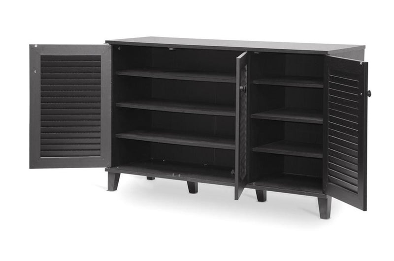 Reece Espresso Shoe Storage Cabinet - living-essentials
