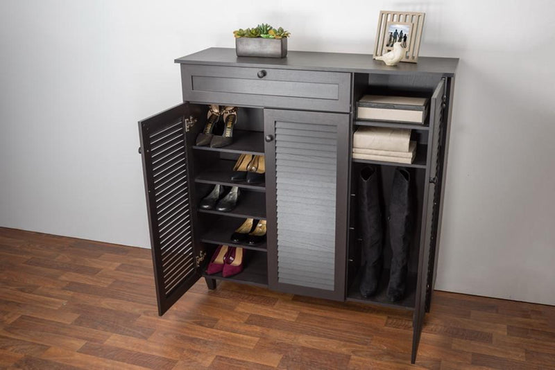 Conan Wood Shoe Storage Cabinet - living-essentials