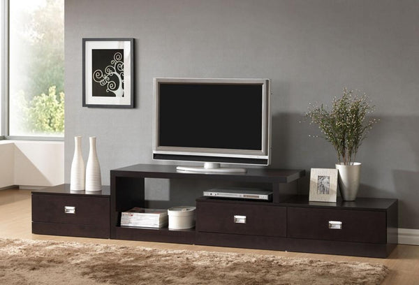 Milena Brown Asymmetrical Modern TV Stand - living-essentials