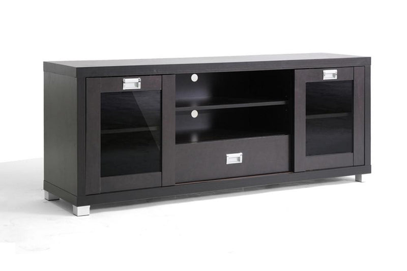 Misha Modern TV Stand with Glass Doors - living-essentials