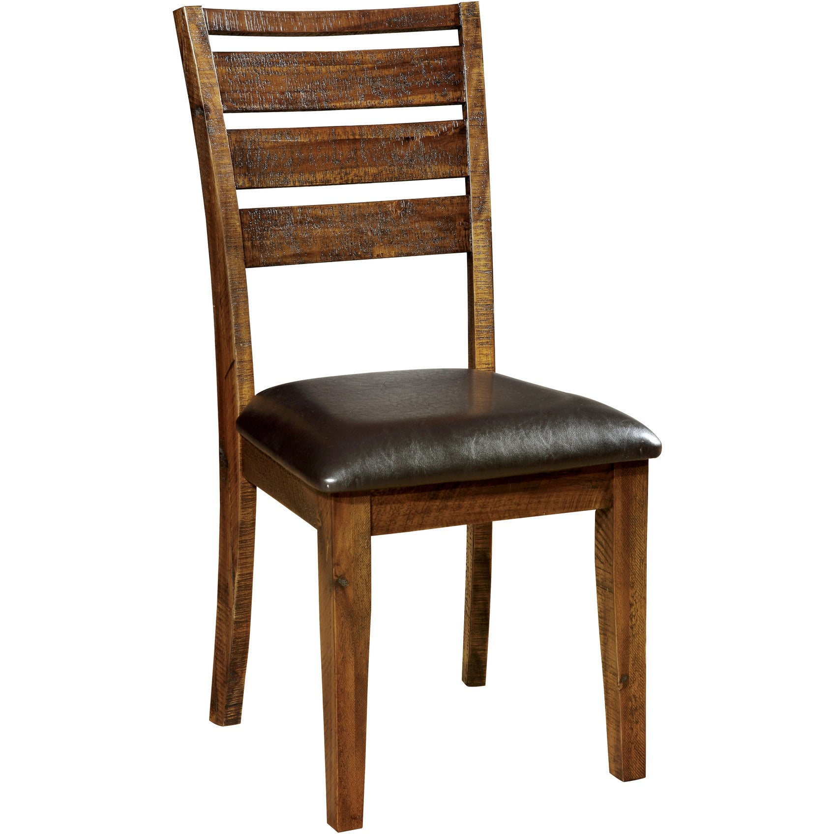 dark oak dining chairs odis transitional leatherette dining chair set of 2 in 6448