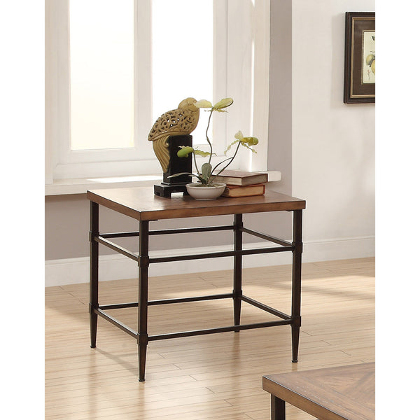 ... Suk Transitional Two Tone End Table In Light Oak And Black , EMFURN   4  ...