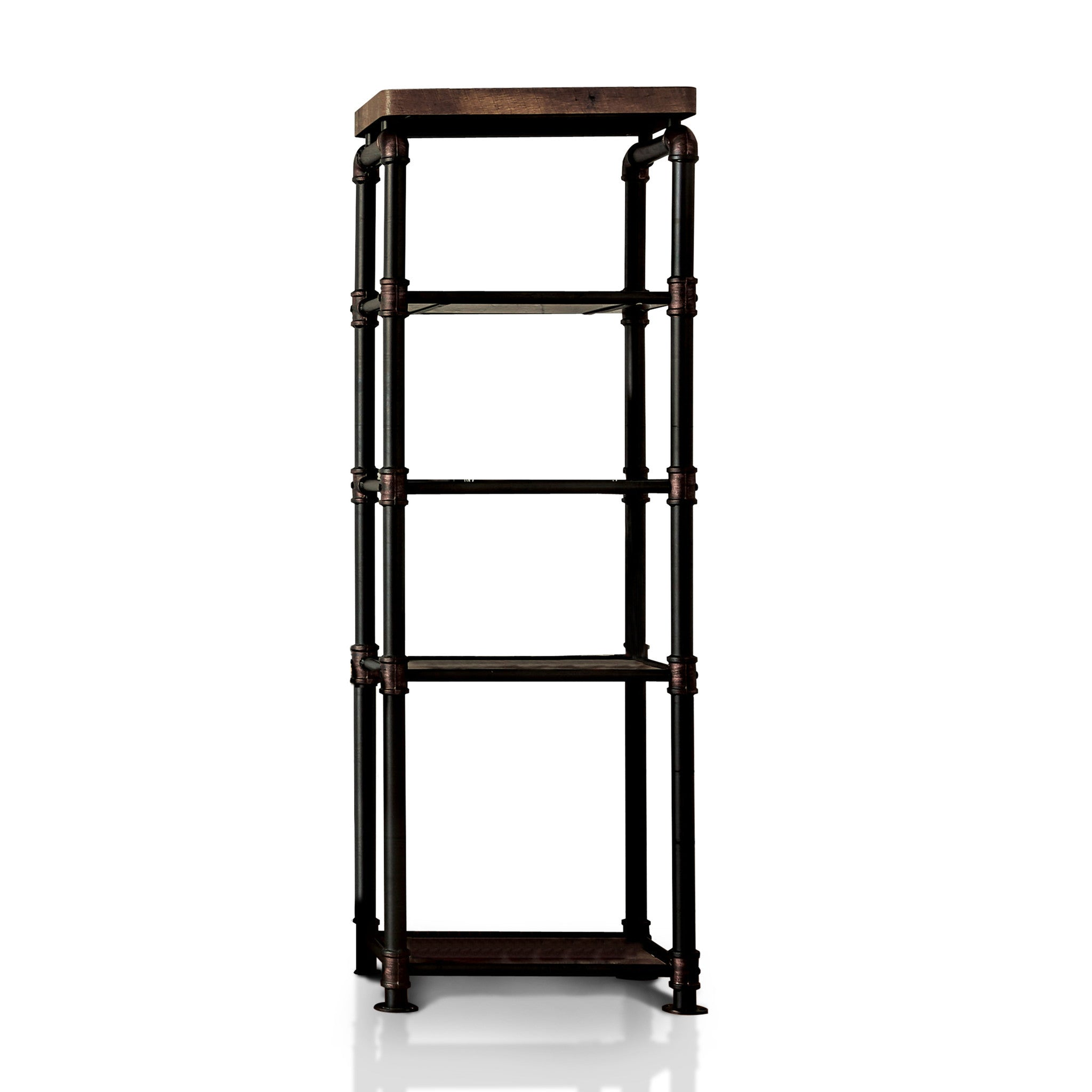 Arleen Industrial Pier Cabinet In Antique Black Emfurn