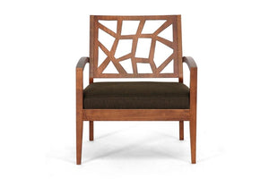 Jordy Dark Brown Modern Lounge Chair Free Shipping