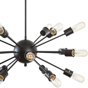 Sputnik Style Industrial Chandelier Black Ceiling Lamps Free Shipping