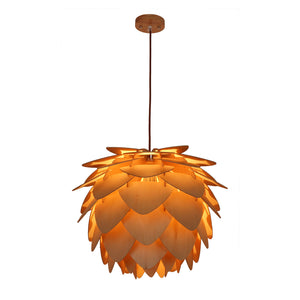 Wooden Leaves 28 Inch Chandelier Ceiling Lamps Free Shipping