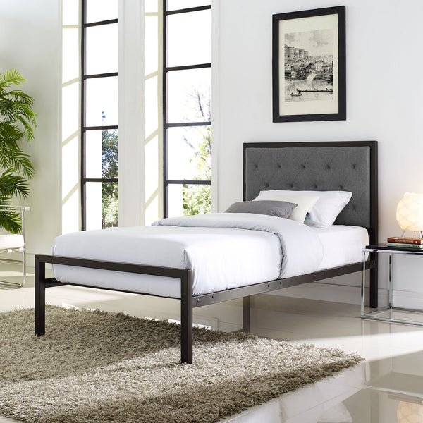 Milan Twin Fabric Bedframe - living-essentials