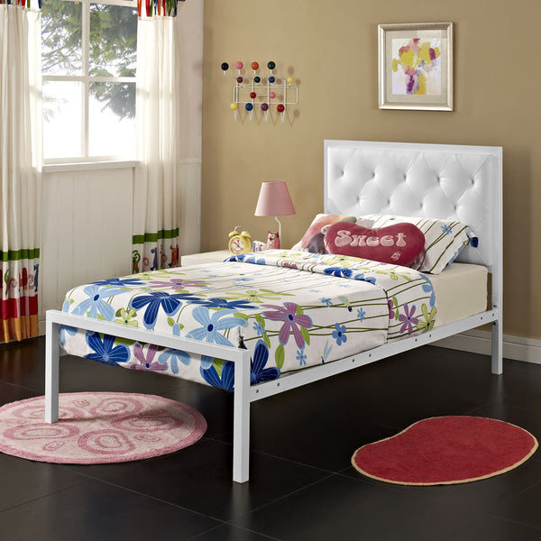 Miami Twin Vinyl Bed Frame - living-essentials