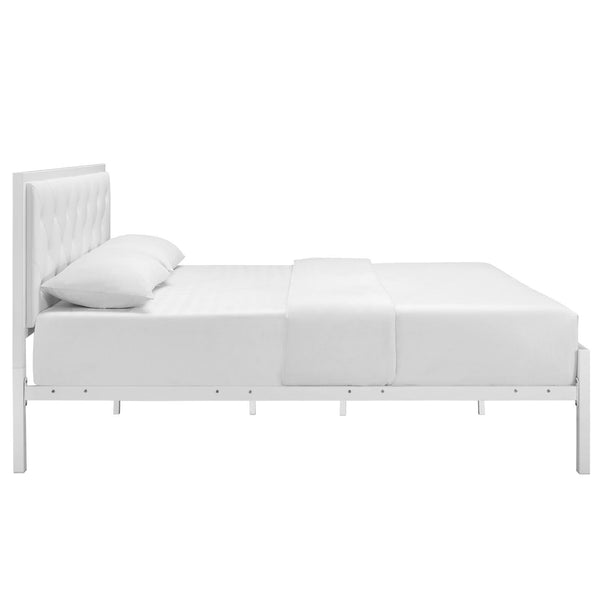 Miami Queen Vinyl Bed Frame - living-essentials