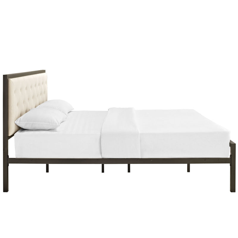 Milan King Fabric Bed Frame - living-essentials