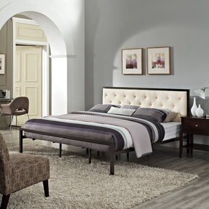 Milan King Fabric Bed Frame Frames Free Shipping