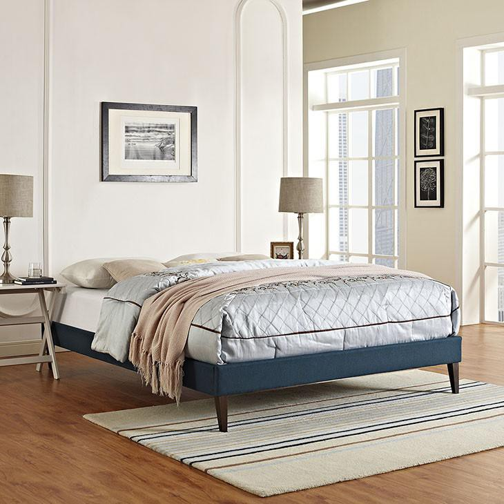 Rose King Fabric Bed Frame - living-essentials