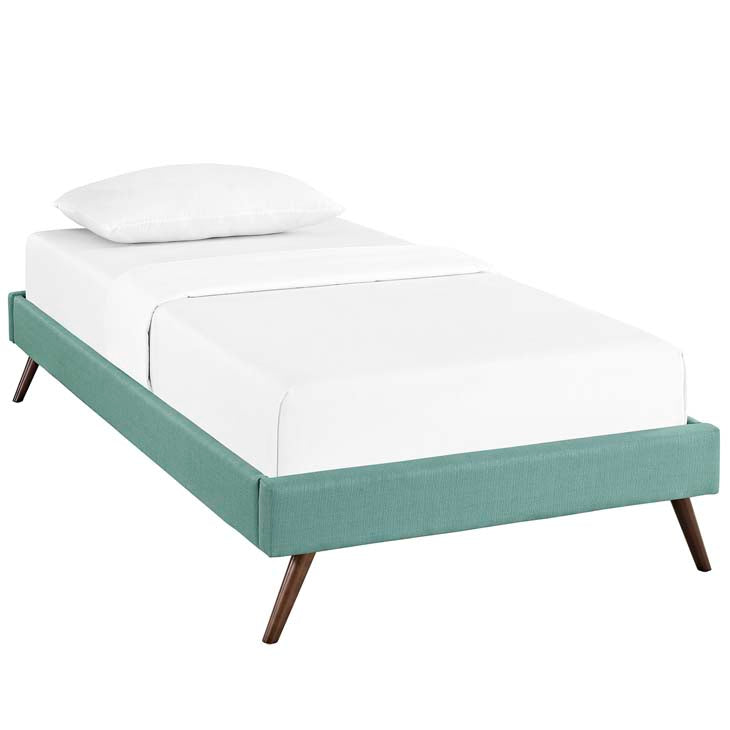 Troy Twin Fabric Bed Frame - living-essentials