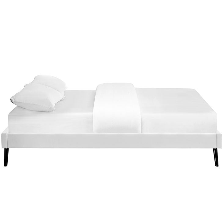 Troy Mid Century Queen Vinyl Bed Frame - living-essentials