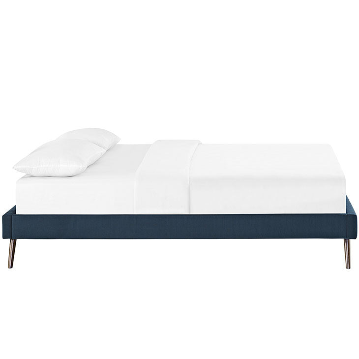 Troy Mid Century Queen Fabric Bed Frame - living-essentials